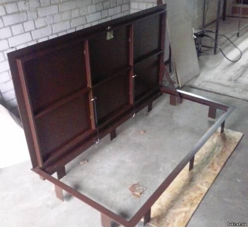 железные двери на подвал