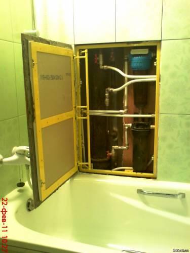 сантехнический люк в туалет 60х100